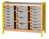 Meuble de rangement à casiers 3 colonnes