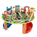 "Circuit et table en bois ""City explorer"""