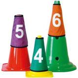 10 couvres-cônes numérotés