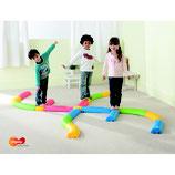 Parcours d'équilibre enfants 16 pièces