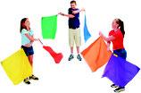 Lot de 6 drapeaux foulards rythmiques