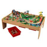 """Circuit et table en bois """"Montagne-cascade"""""""