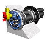 """Quadro - Secura Nova 1 mit zusätzlicher Außenabdichtung 1"""" Gas"""