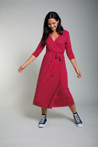 robe longue rouge Scandi Daisy, Frugi - Grossesse et allaitement
