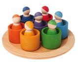 les 7 amis arc-en-ciel avec petits bols, Grimm's