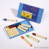 crayons de cire à colorier 8 couleurs - Stockmar