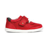 baskets cuir rouge Kid+, Bobux