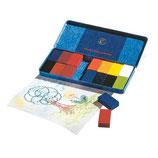 blocs à colorier 16 couleurs en boîte métallique - Stockmar