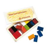 blocs à colorier 16 couleurs en boîte en bois - Stockmar