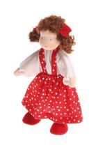 fillette brune jupe rouge à pois, Grimm's