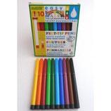 Feutres 10 couleurs 4mm, Okonorm
