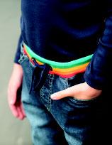 jeans ceinture multicolore, Frugi