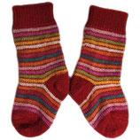 Chaussettes épaisses rayées multicolores, Hirsch Natur