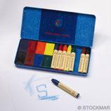 blocs à colorier 8 couleurs et 8 crayons de cire 8 couleurs - Stockmar