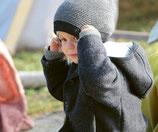 bonnet laine mélangée beanie, Disana
