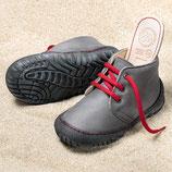 bottines à lacets- cuir gris, Pololo MAXI