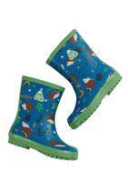 Bottes de pluie national trust - bleu/semelle verte Frugi