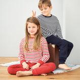 Pyjama 2 pièces jersey large rayure/uni, Living Crafts
