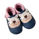 chaussons cuir tigre rose, Pololo souple Orangenkinder