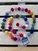 guirlande feutre boules multicolore, Hatale