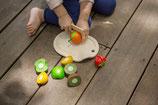 set de fruits à couper Planwood, Plan toys