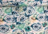 Batik blau-braun-türkis