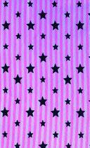 Bündchen rosa gestreift mit Sterne
