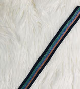 Ripsband Lurex dunkelblau