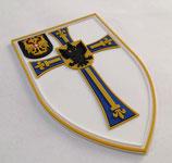 PVC Zugehörigkeitsabzeichen (gummiert) für Kampfanzugärmel weiß