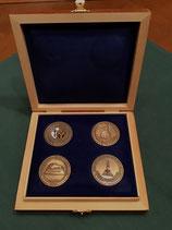 Edler Münzkasten inklusive 4 Deutschmeistercoins 'Limited Edition'