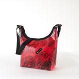 Handtasche rund rot
