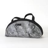 Handtasche rund, flach