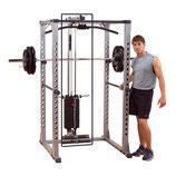 Body Solid Latzug und Ruderanbau für das Power Rack Profi