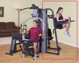 Body Solid Kniehebe und Dipständeranbau für die Mulstistationen der G- Serie