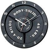 Body Solid Tainingsuhr im Hantelscheiben Design
