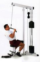 Body Solid Latzug mit 95 Kg Steckgewichtsturm