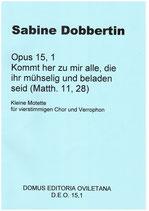 S. Dobbertin: Kommt her zu mir alle
