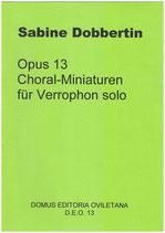 S. Dobbertin: Choralminiaturen I Op. 13