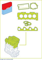 Pochette Joint Haut moteur F7R et  F7p  ( pochette rodage)