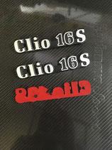 """Monogrammes de hayon """" Clio 16s """""""