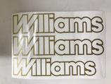 Lot de 3 adhésifs Williams Or