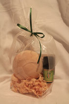 Geschenkset Zirbenkugel und Zirbenöl bio
