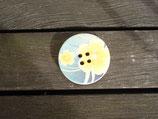 Knopf aus Holz mit Blumendruck 31mm