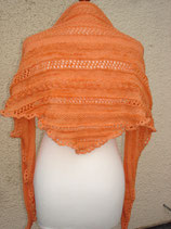 Dreiecktuch in orange-meliert aus Merino