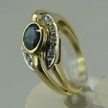 Dekorativer Safir-Ring