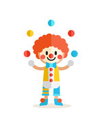 Animation Clown de 2 à 3 ans
