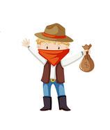 Animation Cowboy de 4 à 9 ans - 3h