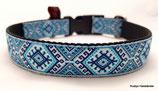 Klickverschluss Halsband Ethno blau/türkis / 3.
