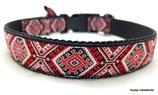 Klickverschluss Halsband Ethno rot/schwarz / 4.