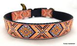 Klickverschluss Halsband Ethno Orange / 1.